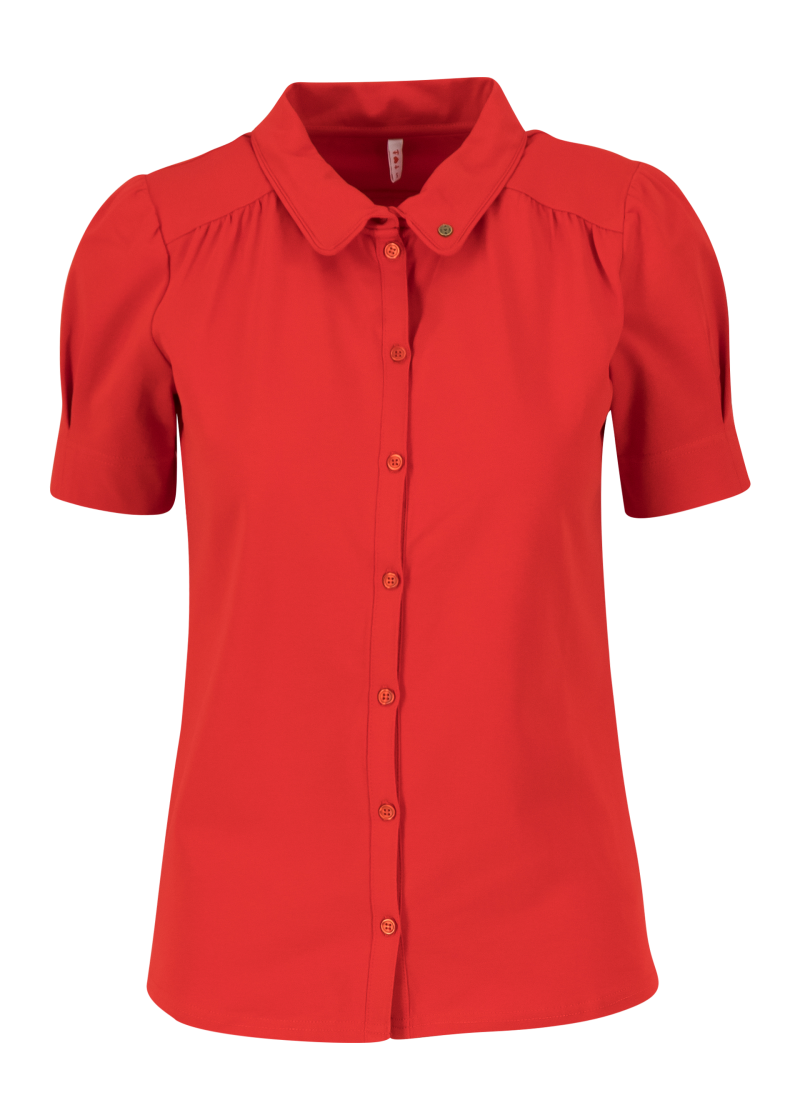 Logo blouse - Strong red