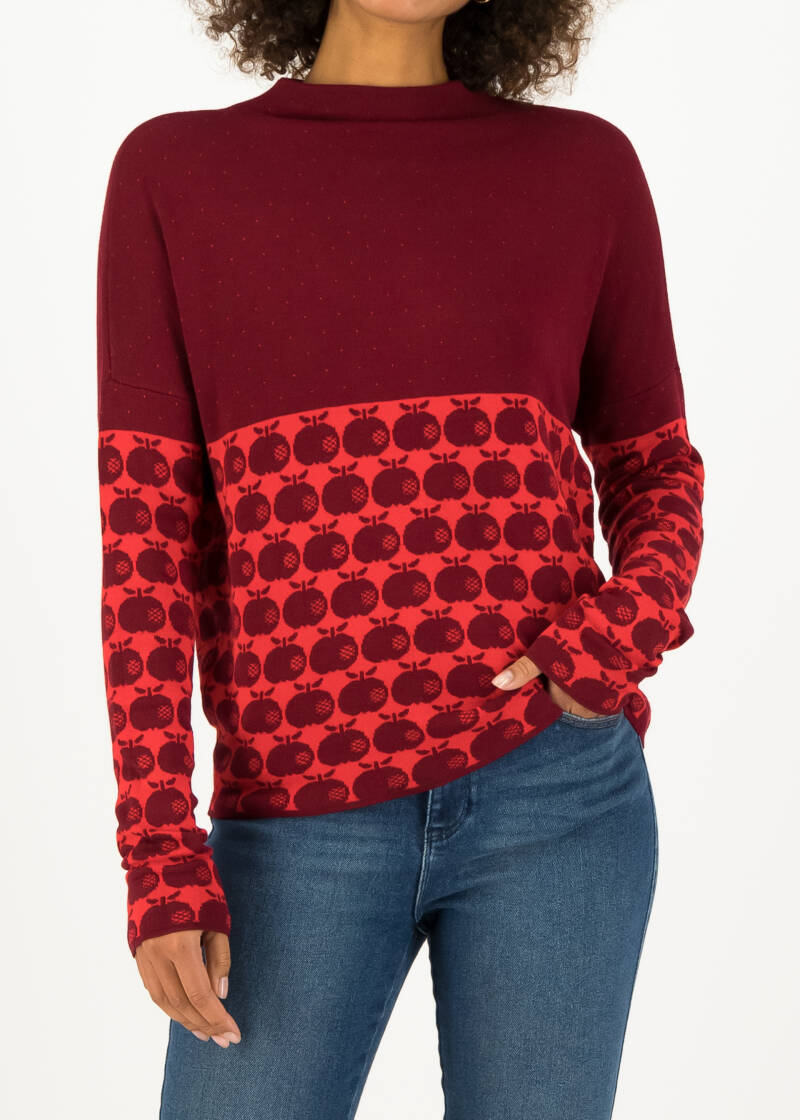 Long turtle - Knit red apple