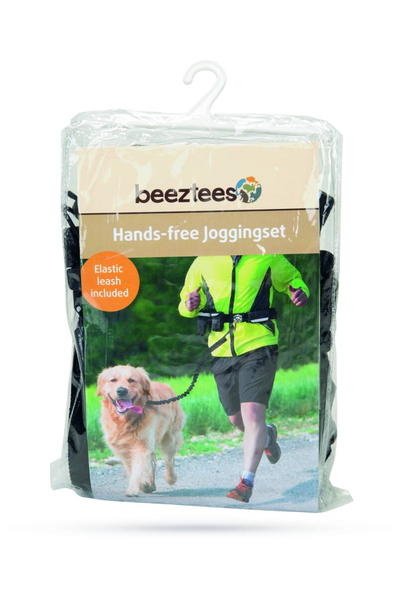 Beeztees Handsfree Joggingset - Hondensport - Nylon - Zwart