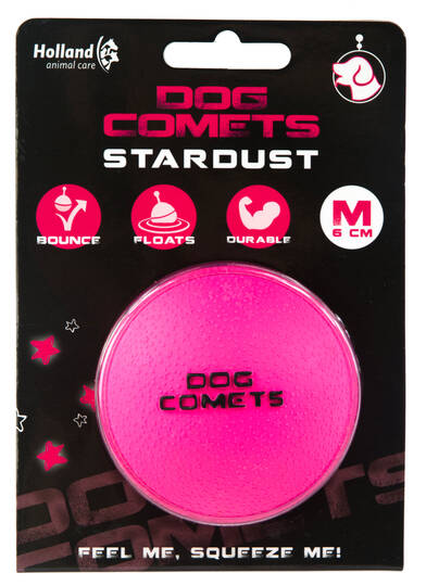 Dog Comets Ball Stardust Roze M