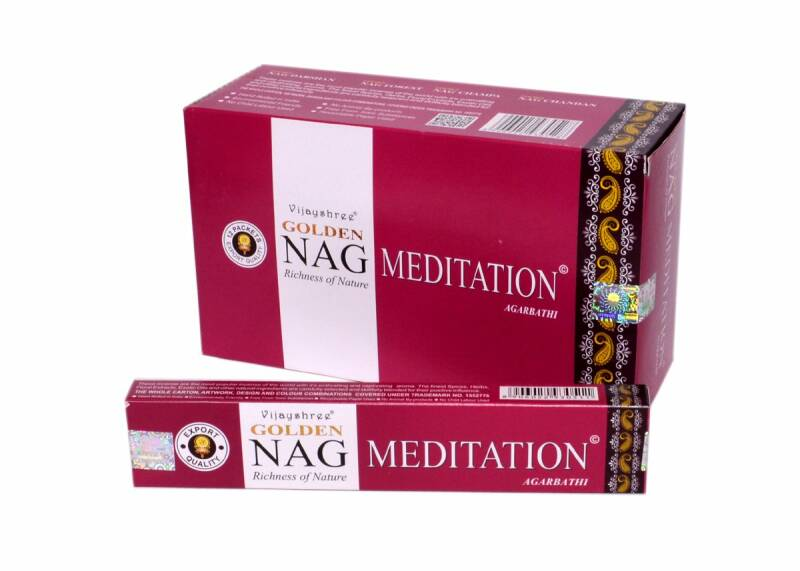 Golden Nag Meditation Wierook 12x 15g