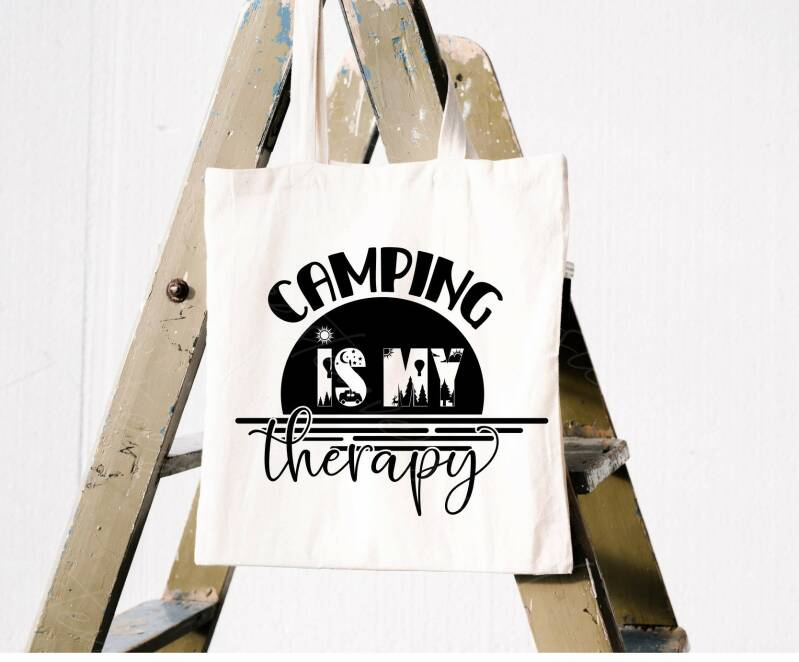 Tote Bag Camping is my therapy