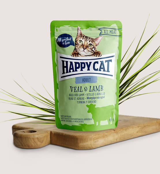 Happy Cat, All Meat Adult Kalb & Lamm