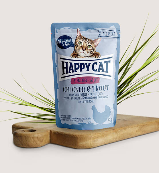 Happy Cat, All Meat Adult Sterilised Huhn & Forelle