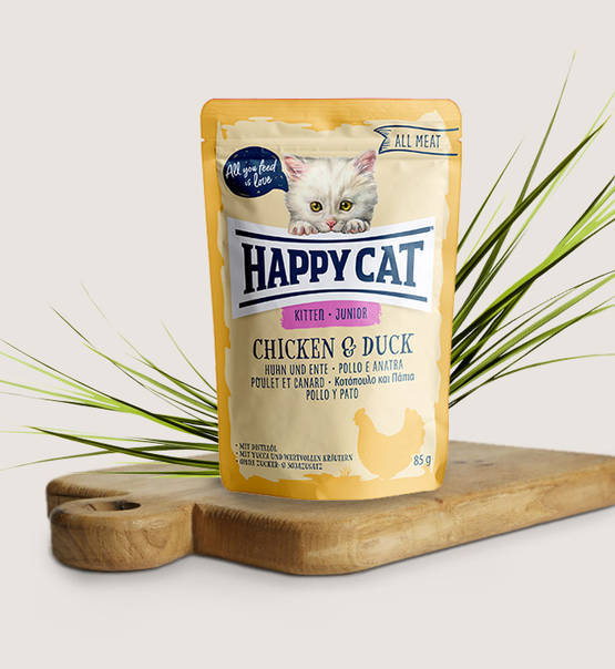 Happy Cat, All Meat Junior Huhn & Ente (natvoer)