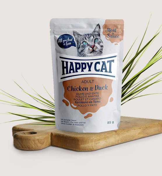 Happy Cat, Meat in Sauce Adult Huhn & Ente