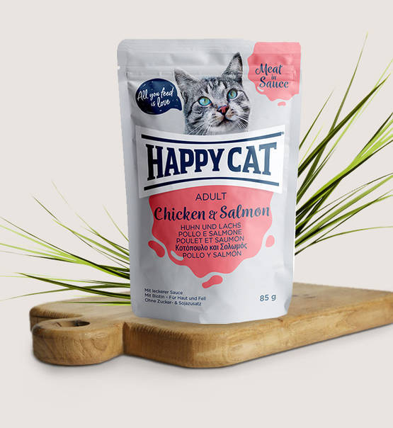 Happy Cat,Meat in Sauce Adult Huhn & Lachs