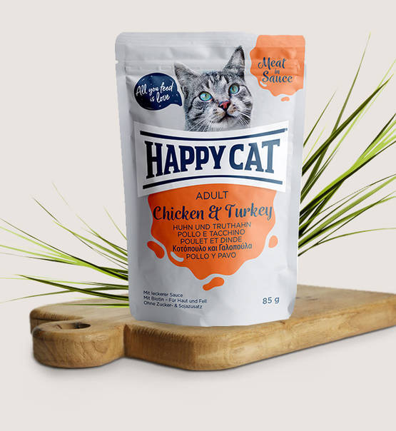 Happy Cat, Meat in Sauce Adult Huhn & Truthahn