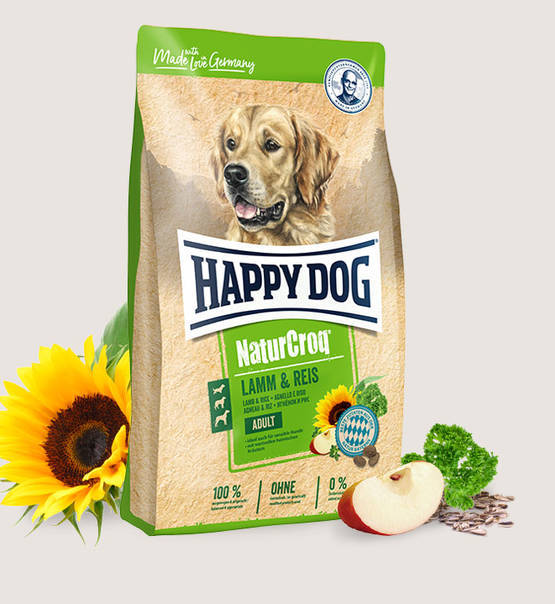Happy Dog, Premium - NaturCroq Lamm&Reis