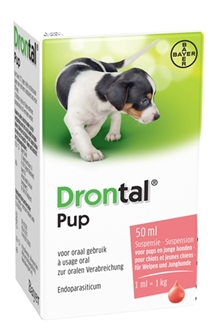 BAYER DRONTAL ONTWORMING PUP 50 ML  ME67843