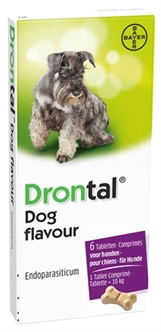 BAYER DRONTAL TASTY ONTWORMING HOND 6 TABLETTEN  ME29097