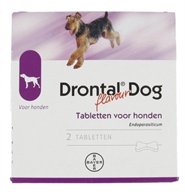 BAYER DRONTAL TASTY ONTWORMING HOND 2 TABLETTEN  ME358361