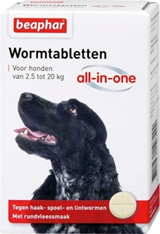 BEAPHAR WORMTABLET ALL-IN-ONE HOND 2,5-20 KG 2 TBL  ME342227
