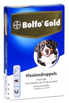 BOLFO GOLD HOND VLOOIENDRUPPELS 400 2 PIPET  ME29853