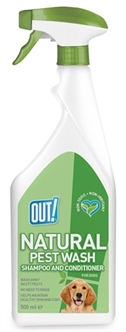 OUT! NATURAL PEST WASH SHAMPOO AND CONDITIONER SPRAY 500 ML  ME384738