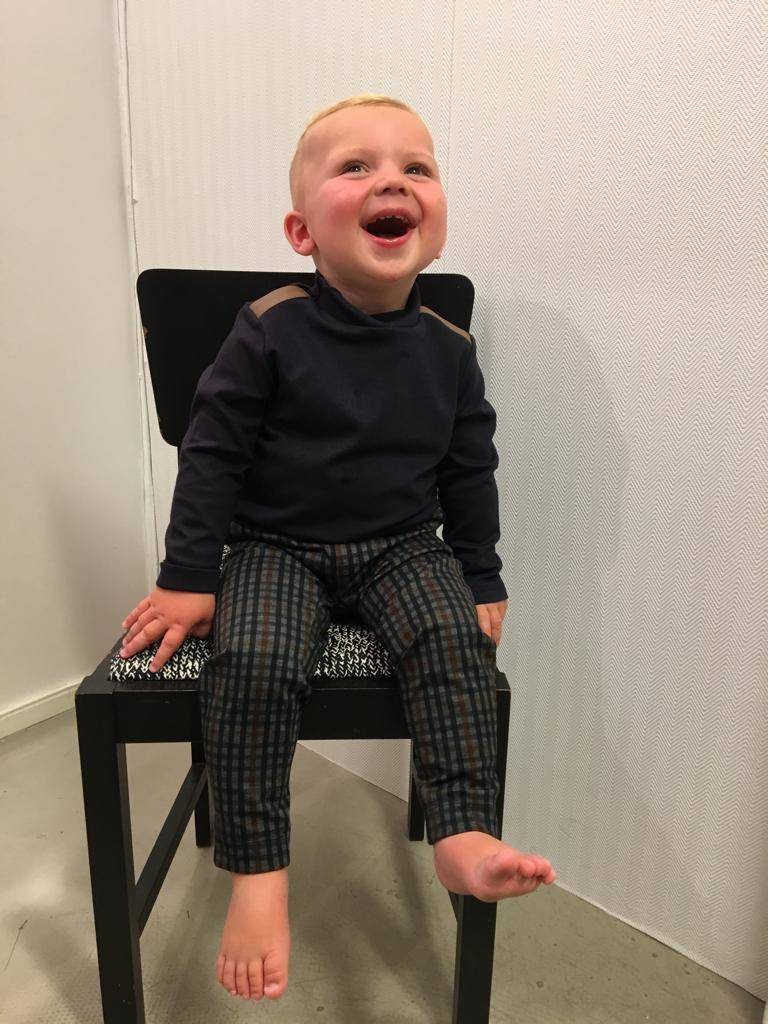 Boys Outfit Ruit bruin/blauw