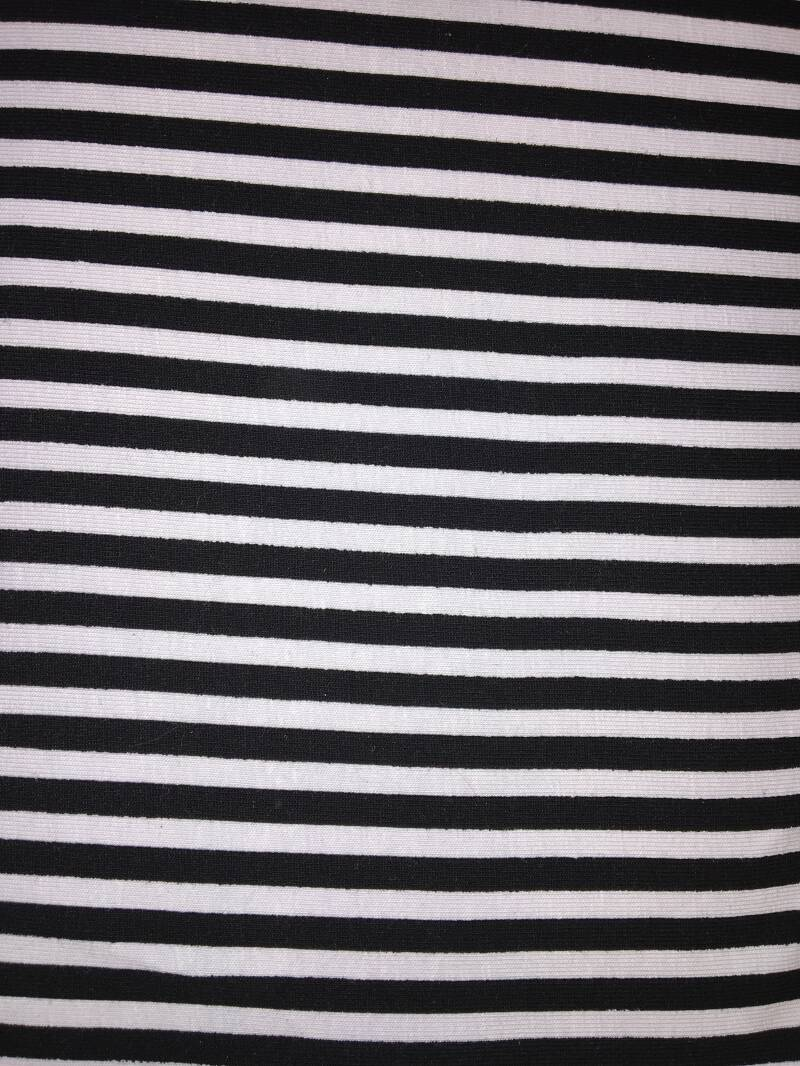 Tricot Stripes zwart-wit