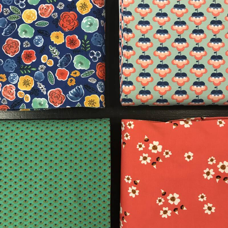 Stoffenbox tricot floral
