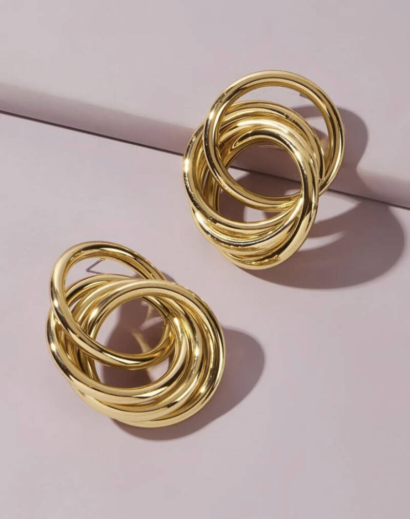 Round Link Earring