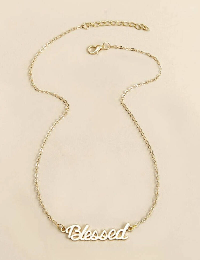 Blessed Pendant Gold Chain