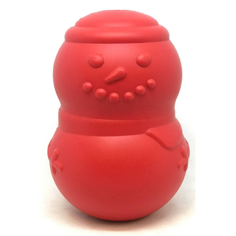 Sodapup Snowman - Chew Toy - Treat Dispenser - Large - Red