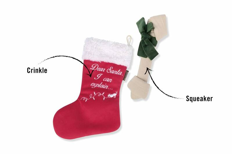 P.L.A.Y. Pet Merry Woofmas Good Dog Stocking