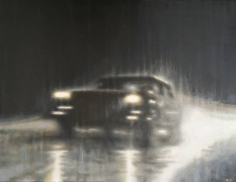 Stan | Marko Klomp | Oil on Linnen Painting with a Car