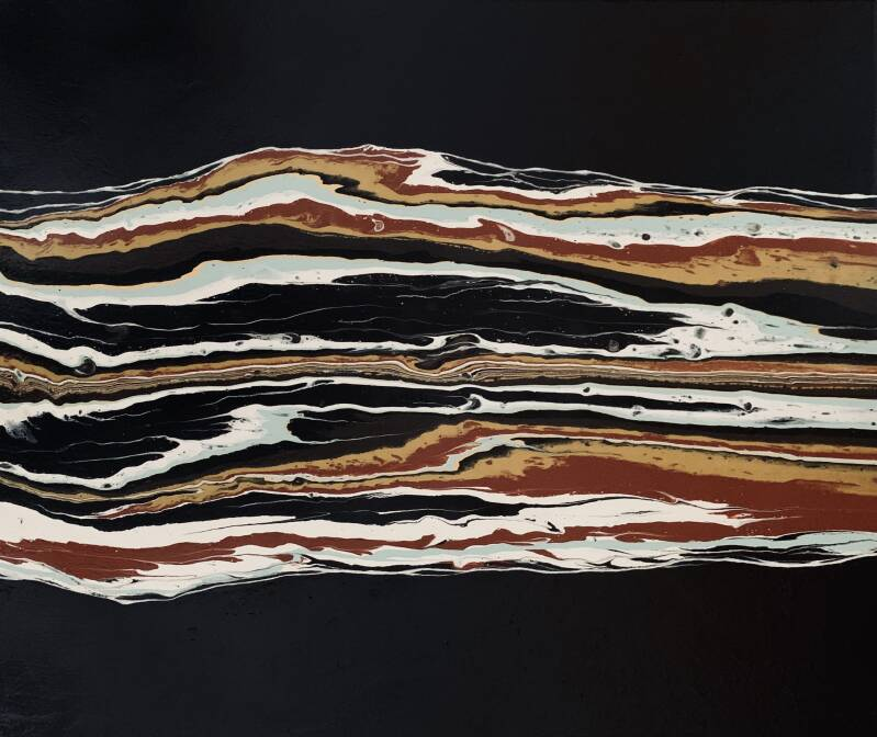 Africa   Els Kampert   Abstract Poured Painting