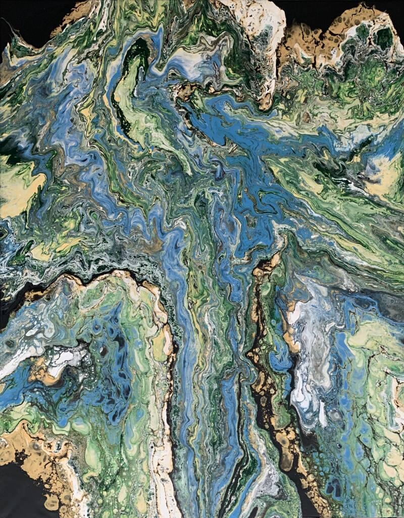 Atlas   Els Kampert   Abstract Acrylic Pouring