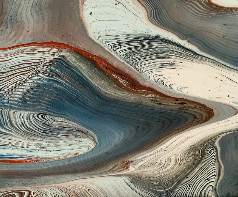 Comic by Els Kampert an Abstract Acrylic Pouring