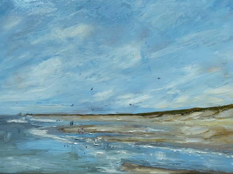 Berkeide Beach | Jeanette Olyhoek | En Plein Air Oil Paintings