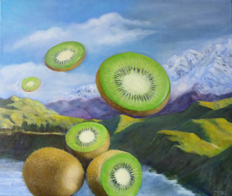 Kiwi Country | Denise van der Burgh | Oil on Canvas