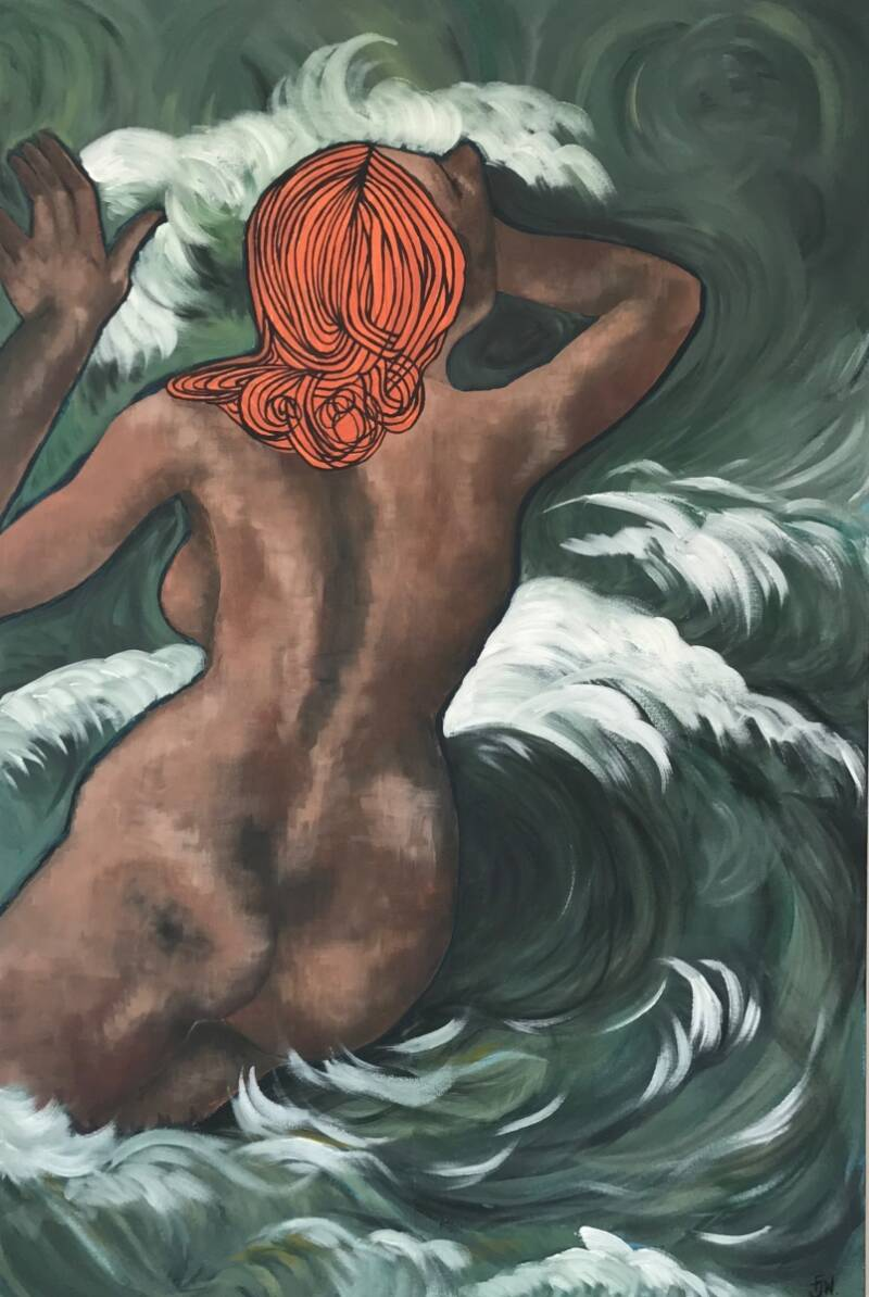 Riding the Waves | Fiona J. Williams | Nude Expressionism