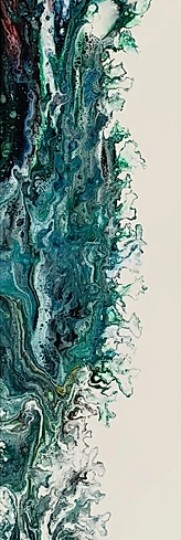 Green in Motion I | Els Kampert | Acrylic on Canvas