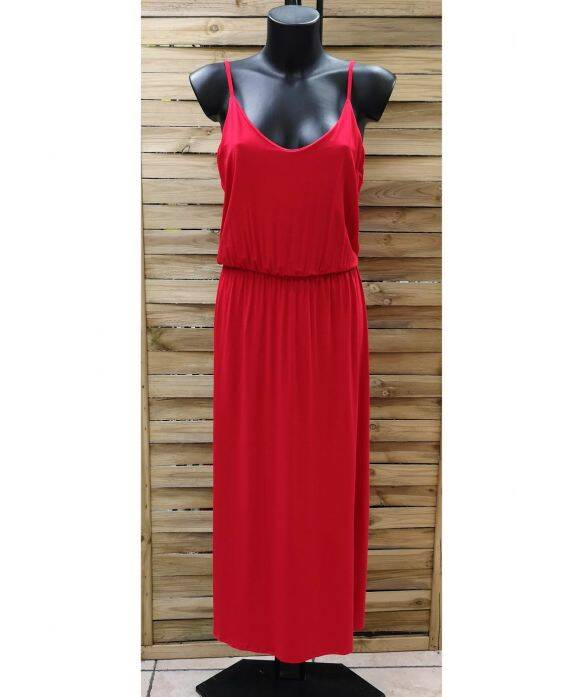 Maxi dress red-made in Italy