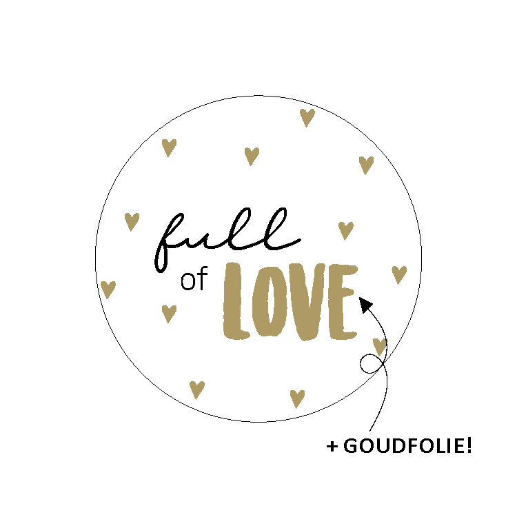 Sticker - Full of love - per 10