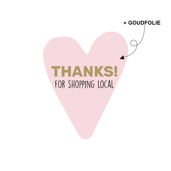 Sticker - Thanks for shopping local - per 20