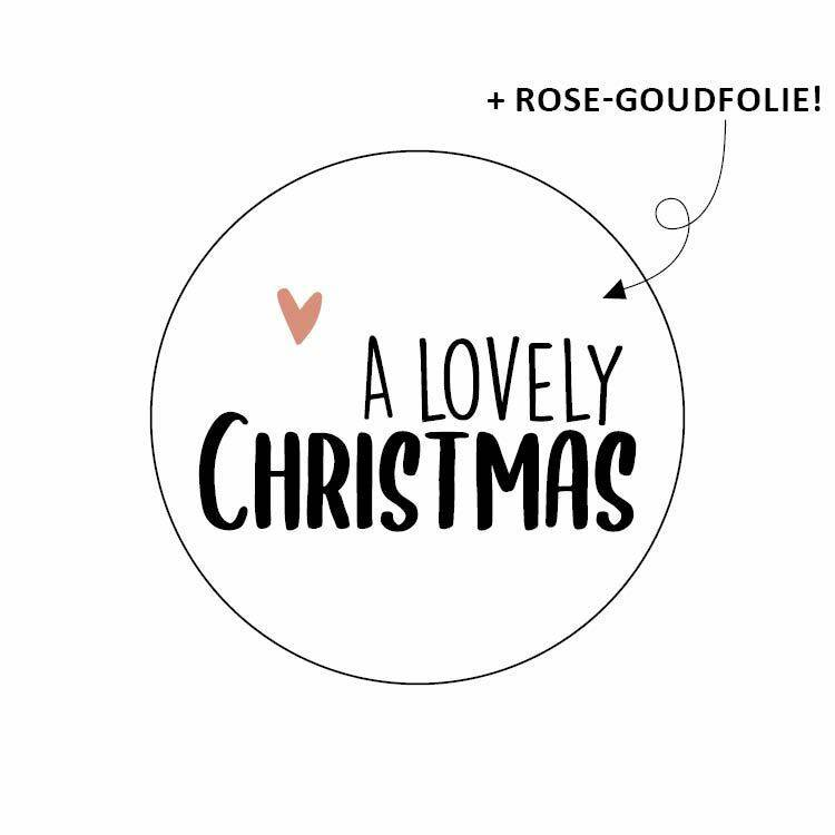 Sticker - A lovely christmas - per 10