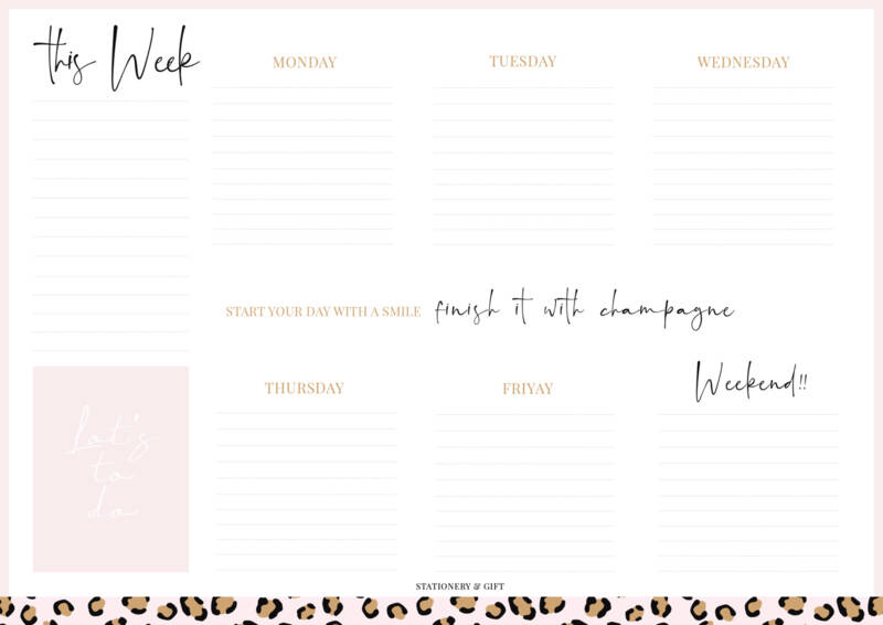 Weekly Planner | Start your day with a smile!