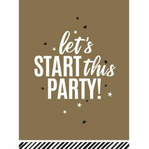 Let's start this party!