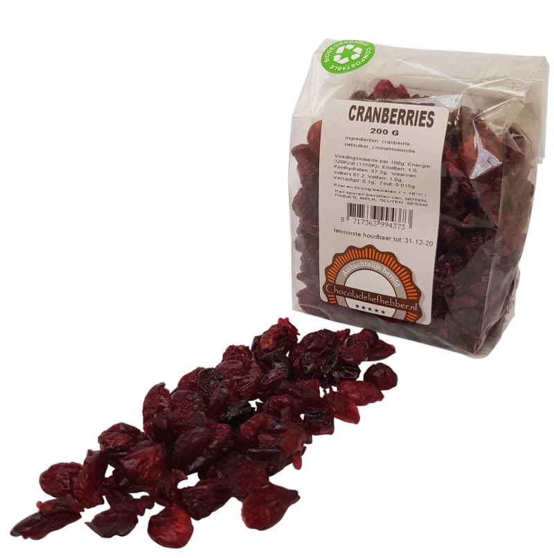 Cranberries - Chocolate-lover - 200 gram