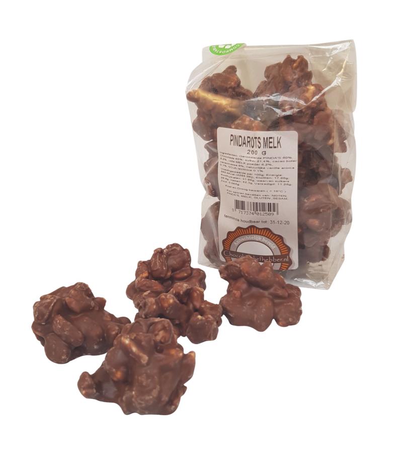 Peanut clusters in Milk Chocolate - Chocolate-lover 200 gram
