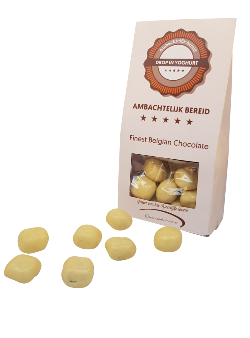 Licquorice in white chocolate - 180 gram