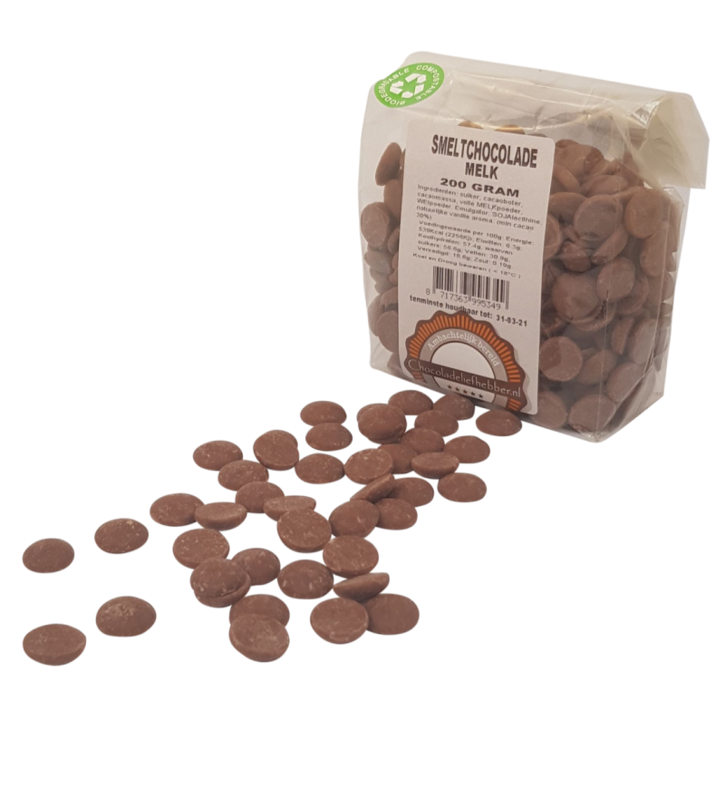 Melting chocolate Callebaut milk - 200 gram