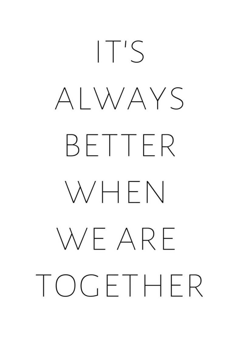 Interieurposter 'Better Together'