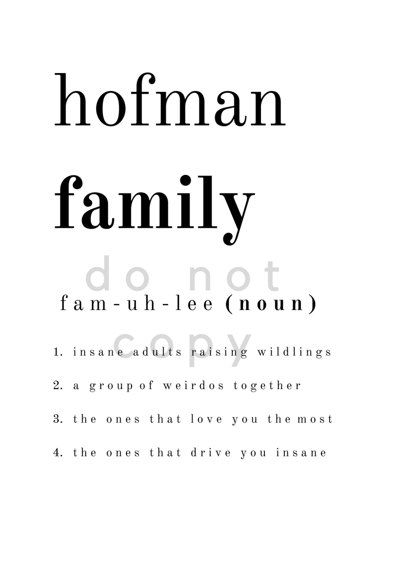 Family Dictionary Poster