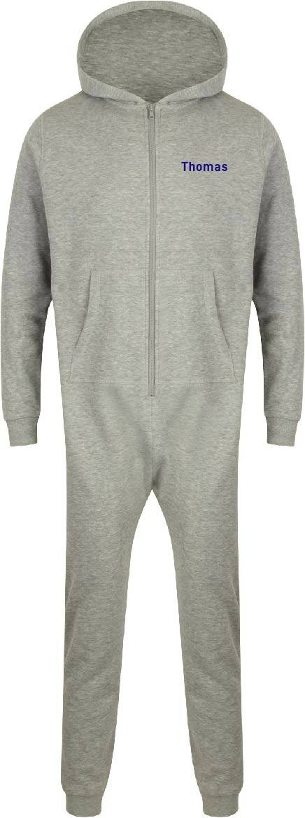 Onesie kids met naam op linkerborst in trainingstof art.SM470
