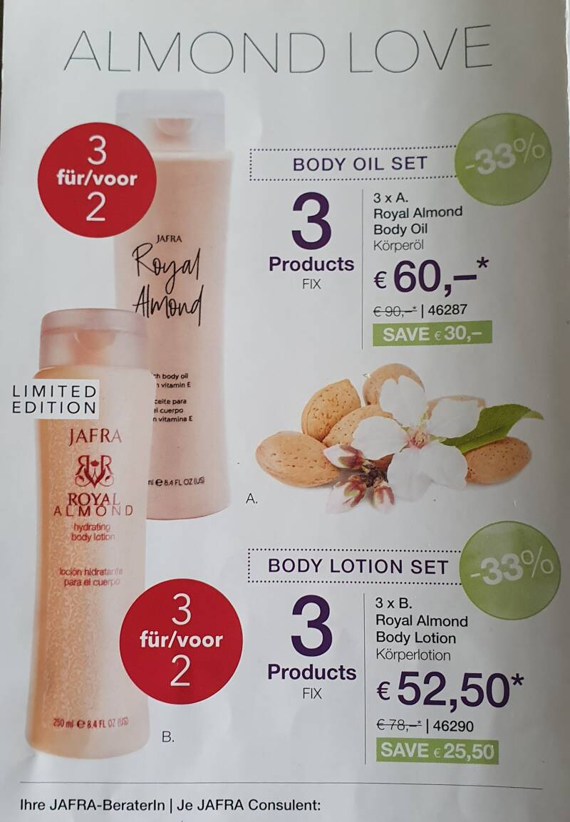 Almond body Lotion Set