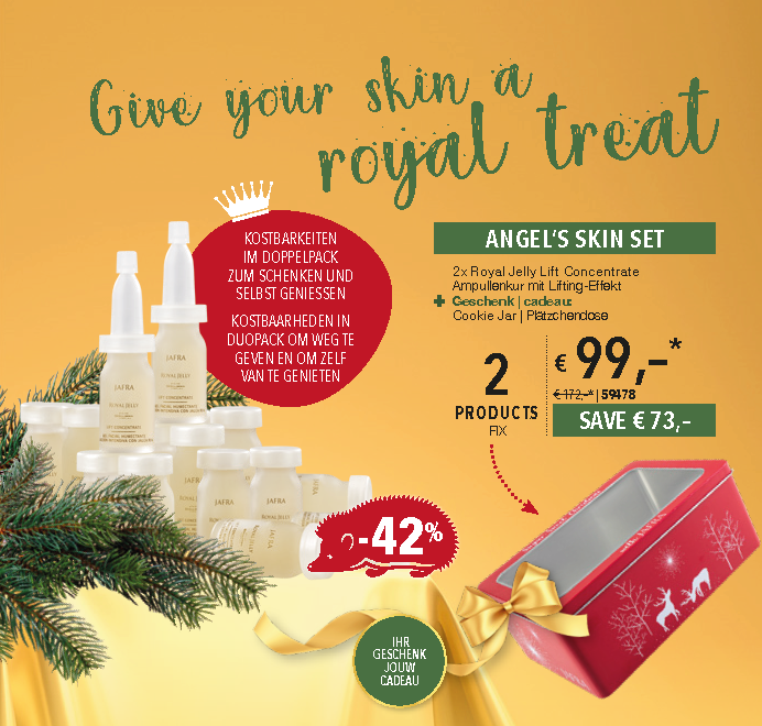 Royal Jelly lifting concentrate - Angel's skin set