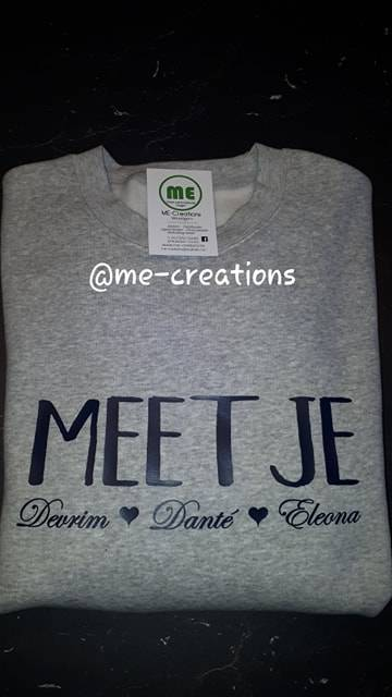 t-shirt/sweater Meetje met namen